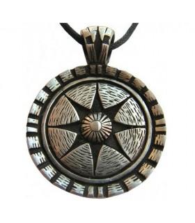 Pendentif bouclier Celte étoile de vie
