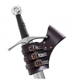 Tahalí pour les épées réglable en cuir marron