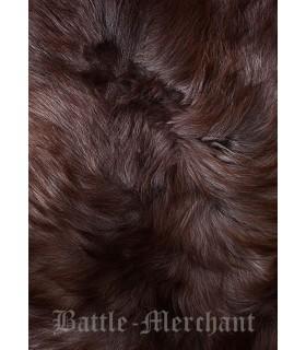 Peau de mouton nordique marbré naturel, 110 cms.