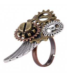 Bague SteamPunk Ange Aile