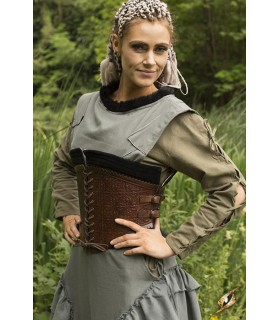 Corset médiévale en cuir, Margot