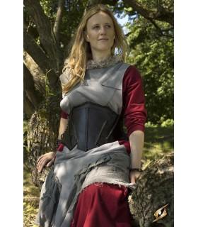 Corset médiévale en cuir, l'Elfe de la Nuit