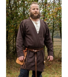 Tunique Viking Klappenrock Bjorn brun