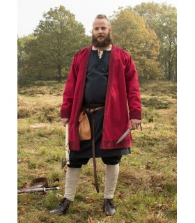Tunique Viking Klappenrock Bjorn en rouge
