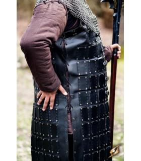 Brigantina médiévale en cuir long