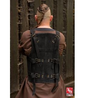 Armure viking en cuir-noir