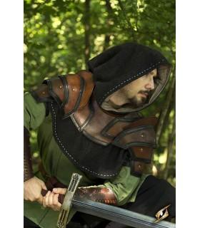 Gorjal médiévale en cuir deux tons