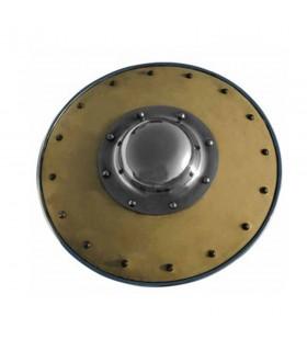 Bouclier recouvert de cuir marron 30 cm
