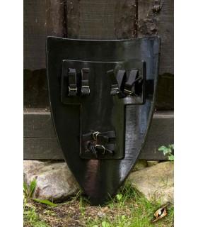 Bouclier de la Croix blanche noir, 70 x 50 cm