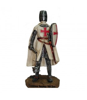 Figurine chevalier du temple avec une masse et un bouclier