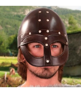 Casque de Viking Vendel, cuir