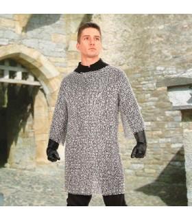 Cotte de mailles médiévale en aluminium