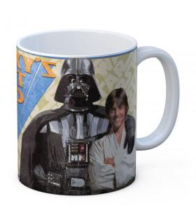 Tasse en céramique de la Galaxie de Meilleur Papa de Star Wars