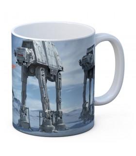Tasse en céramique blanche de la Bataille de Hoth de Star Wars