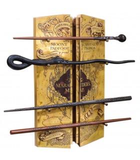 Exposant 4 Baguettes avec la Carte du Maraudeur de Harry Potter