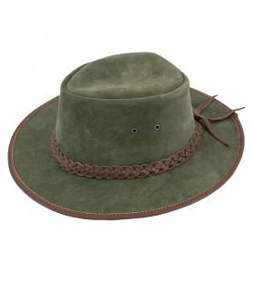 Vert chapeau de cow-boy de l'ouest sauvage