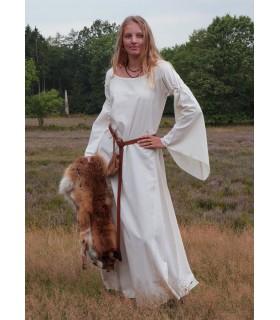 Robe médiévale femme Burglinde manches trompette