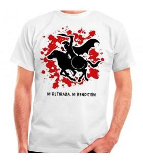T-shirt blanc Spartan Cheval: ni retraite, ni à la remise