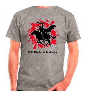 T-shirt Gris Spartan Cheval: ni retraite, ni à la remise