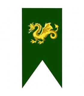 Bannière Médiévale Dragon D'Or