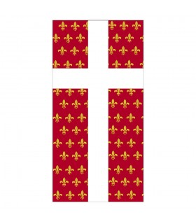 Bannière Médiévale Croix Fleur de Lys