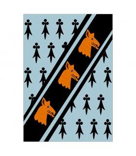 Bannière Médiévale À Tête De Dragon