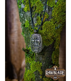 Pendentif Norse Déesse Freya, finition or