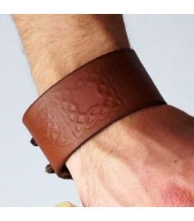 Bracelet Noeuds Celtiques en Cuir, réglable (1 unité)