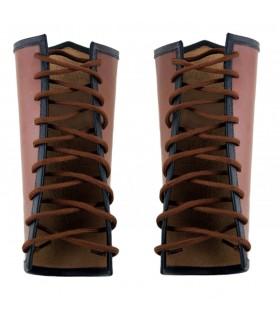 Bracelets Celtiques de la peau Vegvisir brun