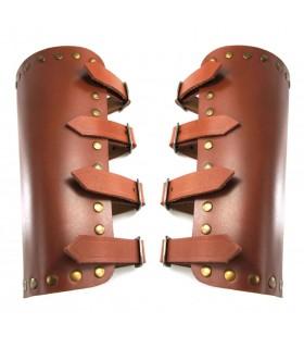 Bracelets, Médiévale de la Mer en cuir marron