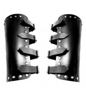Bracelets, Médiévale de la Mer en cuir noir
