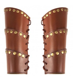 Bracelets, Médiévale Arnold en cuir marron