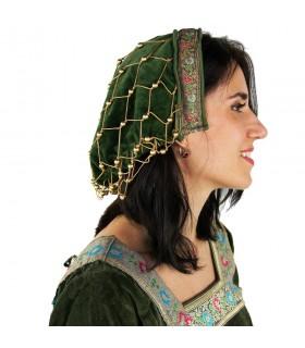 Bonnet de noble dans le velours vert