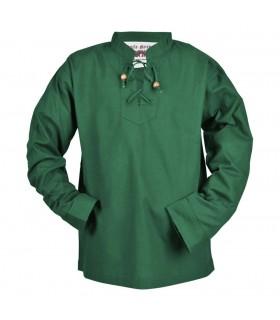Chemise médiévale vert pour enfant, Colin