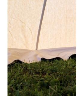 Tente médiévale Herold de 4 x 4 m. en coton blanc naturel