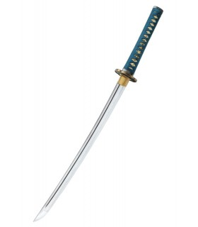 Shikoto Longquan Maître Teal Wakizashi, forgé à la main