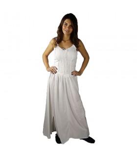 Robe médiévale élégant Jasmin, de couleur blanche