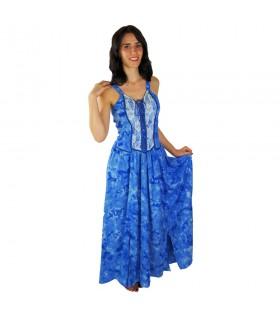 Robe médiévale élégant Jasmin, bleu