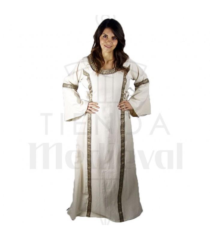 Robe Medievale Femme Angie Naturel Blanc Costumes Medievaux Les
