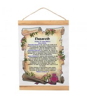 Bannière avec cadre en bois Personnalisé avec votre Nom (30x45 cm)