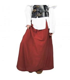 Jupe médiévale modèle Diana, rouge