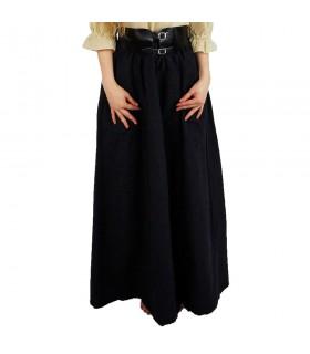 Jupe médiévale modèle Diana, noir