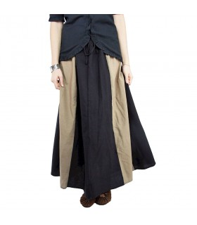 Jupe médiévale modèle Diana, brun-noir