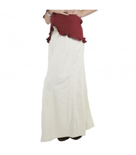 Jupe médiévale femme, Smilla, naturel, blanc