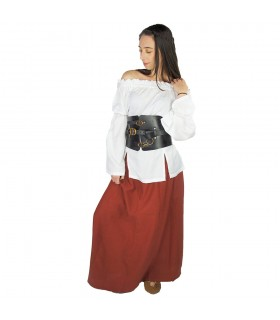 Jupe médiévale femme, Smilla, rouge