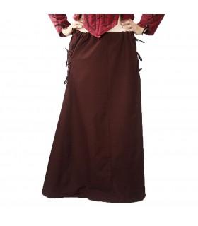Jupe modèle médiéval, Noita, brun foncé