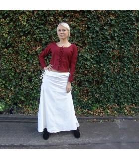 Jupe modèle médiéval, Noita, couleur blanc