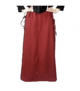 Jupe modèle médiéval, Noita, de la couleur rouge