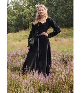 Robe médiévale Elizabeth, en Velours noir