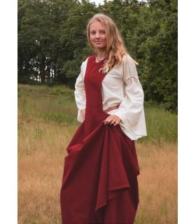 Robe médiévale à l'Andra, rouge